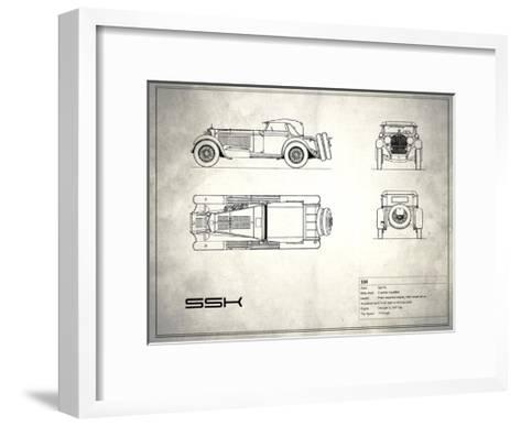Mercedes SSK White-Mark Rogan-Framed Art Print