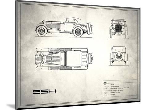 Mercedes SSK White-Mark Rogan-Mounted Giclee Print