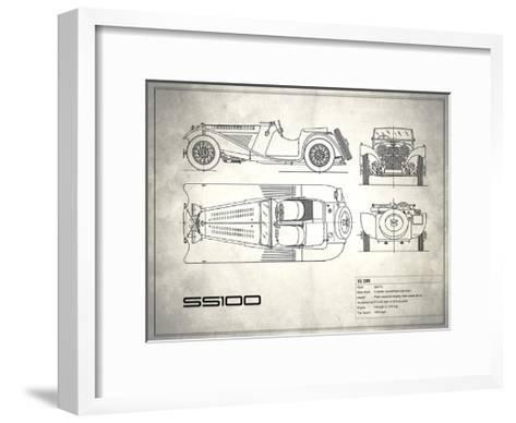 Jaguar SS1 White-Mark Rogan-Framed Art Print
