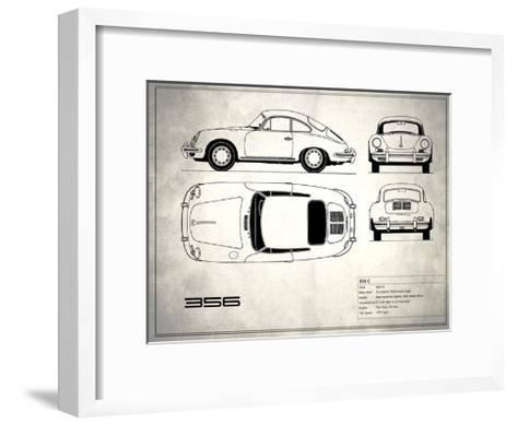 Porsche 356C White-Mark Rogan-Framed Art Print