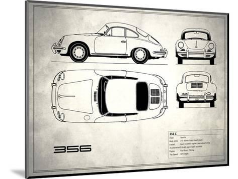 Porsche 356C White-Mark Rogan-Mounted Giclee Print