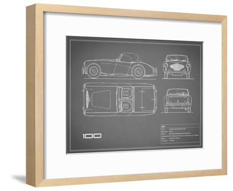 Austin-Healey 100-Grey-Mark Rogan-Framed Art Print