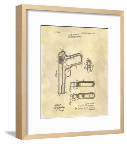 Automatic Firearm, 1902-Dan Sproul-Framed Art Print