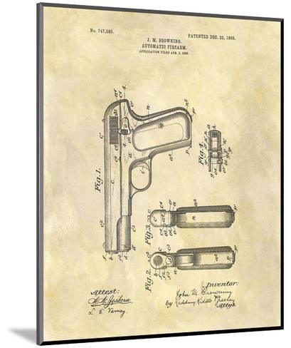 Automatic Firearm, 1902-Dan Sproul-Mounted Giclee Print