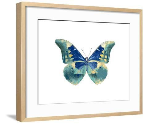 Butterfly in Aqua I-Julia Bosco-Framed Art Print