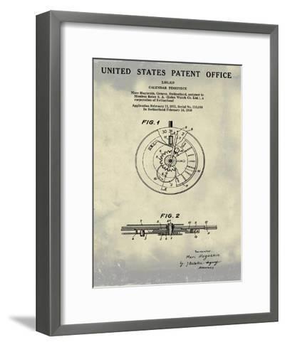 Calendar Time Piece, 1950- Ant-Bill Cannon-Framed Art Print
