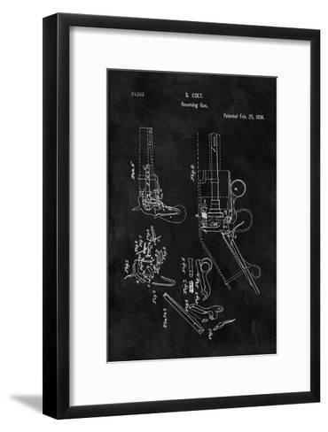 Colt-Revolving Gun, 1836-Black-Dan Sproul-Framed Art Print