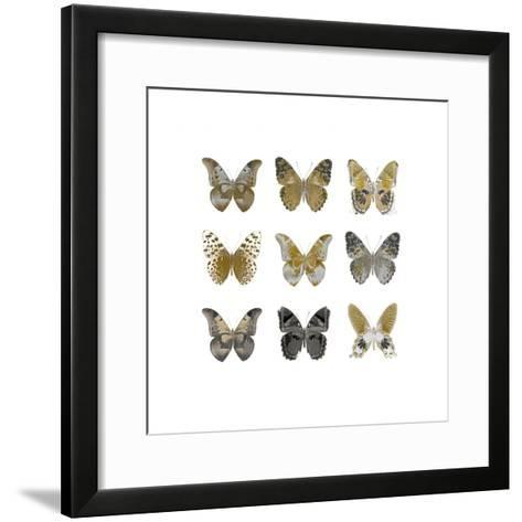 Butterfly Study in Gold I-Julia Bosco-Framed Art Print
