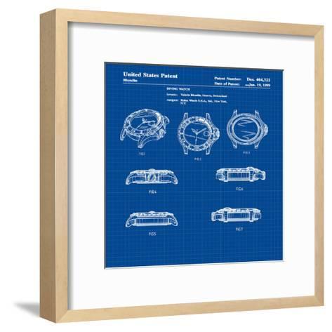 Diving Watch, 1999-Blue-Bill Cannon-Framed Art Print