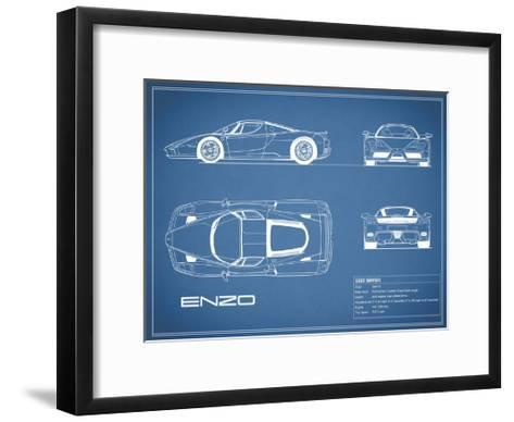 Ferrari Enzo-Blue-Mark Rogan-Framed Art Print