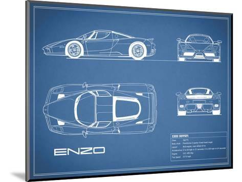 Ferrari Enzo-Blue-Mark Rogan-Mounted Giclee Print