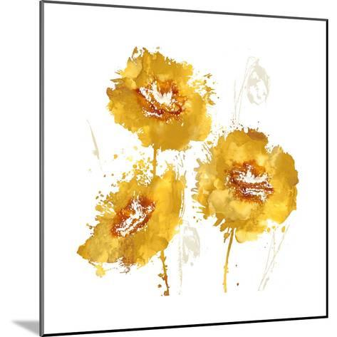 Flower Burst Trio in Amber-Vanessa Austin-Mounted Giclee Print