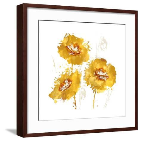 Flower Burst Trio in Amber-Vanessa Austin-Framed Art Print