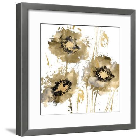 Flower Burst Trio in Gold-Vanessa Austin-Framed Art Print