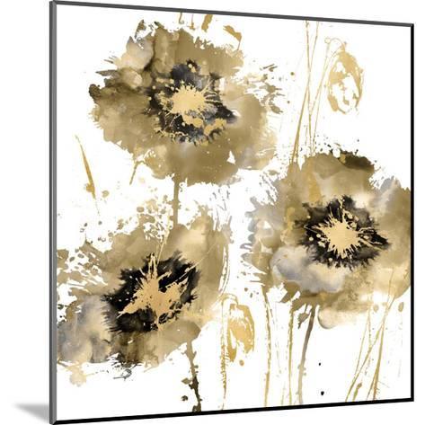 Flower Burst Trio in Gold-Vanessa Austin-Mounted Giclee Print