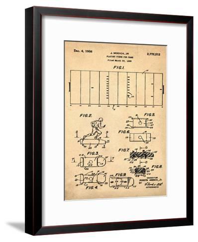 Football game piece, 1955-Anti-Bill Cannon-Framed Art Print