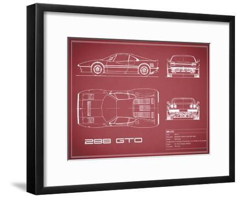 Ferrari 288-GTO-Maroon-Mark Rogan-Framed Art Print