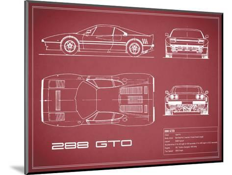 Ferrari 288-GTO-Maroon-Mark Rogan-Mounted Giclee Print