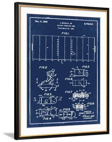 Football game piece, 1955-Blue-Bill Cannon-Framed Art Print