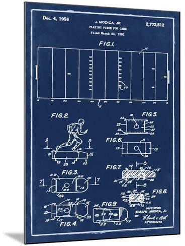 Football game piece, 1955-Blue-Bill Cannon-Mounted Giclee Print