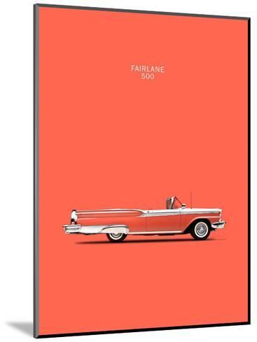 Ford Fairlane 500 1959-Mark Rogan-Mounted Giclee Print