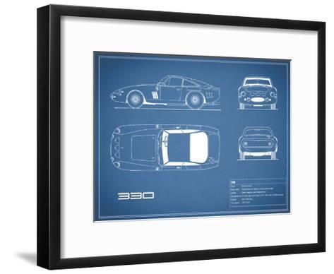 Ferrari 330-Blue-Mark Rogan-Framed Art Print
