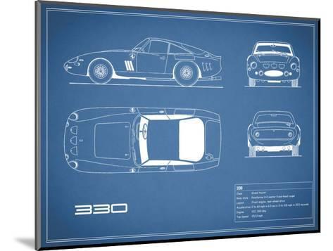 Ferrari 330-Blue-Mark Rogan-Mounted Giclee Print