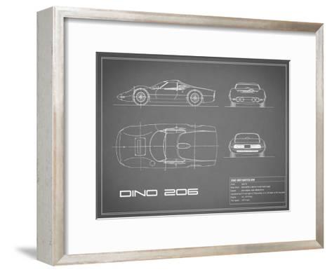 Ferrari Dino 206 1965-Grey-Mark Rogan-Framed Art Print