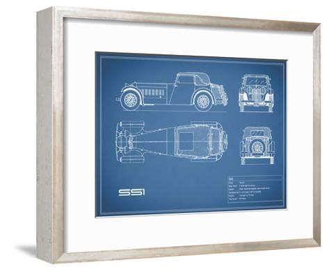 Jaguar SS1-Blue-Mark Rogan-Framed Art Print