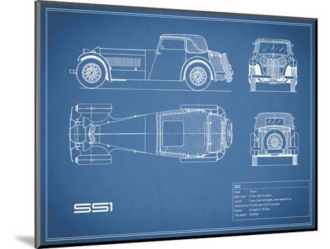 Jaguar SS1-Blue-Mark Rogan-Mounted Giclee Print