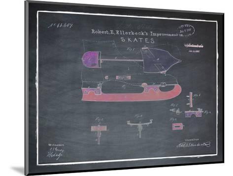 Ice Skates, 1867-Chalkboard-Bill Cannon-Mounted Giclee Print