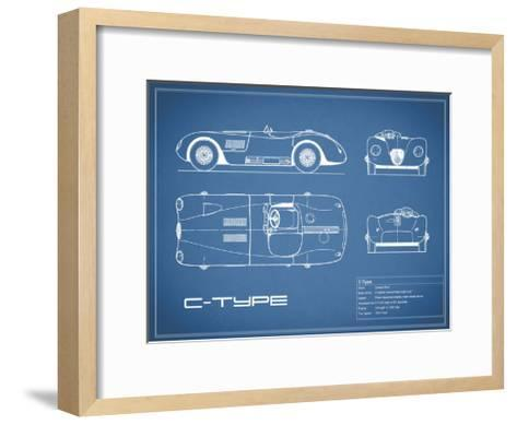 Jaguar C-Type-Blue-Mark Rogan-Framed Art Print
