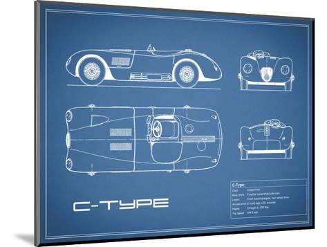 Jaguar C-Type-Blue-Mark Rogan-Mounted Giclee Print