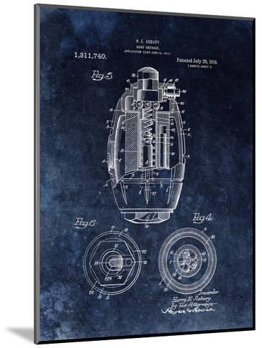 Hand Grenade, 1919- Black-Dan Sproul-Mounted Giclee Print
