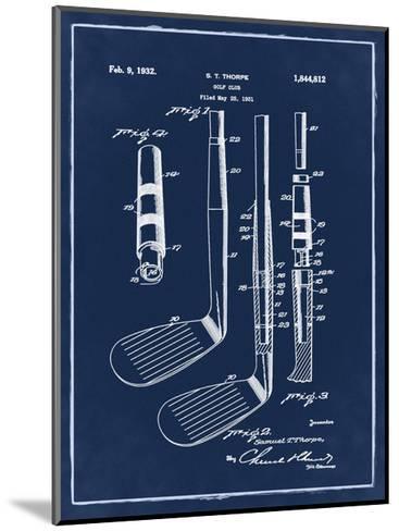 Golf Club, 1931-Blue II-Bill Cannon-Mounted Giclee Print