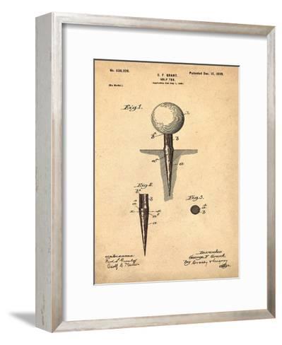 Golf Tee, 1899- Antique-Bill Cannon-Framed Art Print