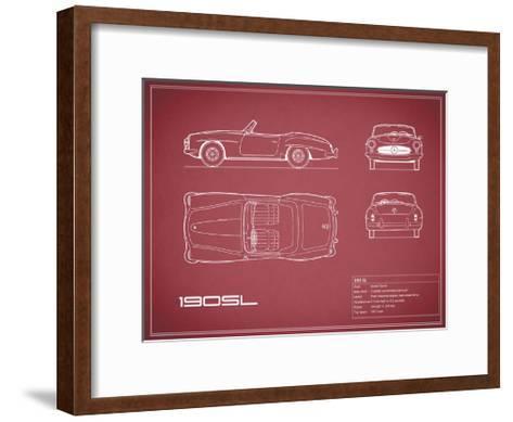 Mercedes 190-SL-Maroon-Mark Rogan-Framed Art Print