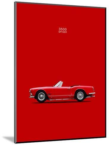 Maserati 3500 Spyder 1959-Mark Rogan-Mounted Giclee Print