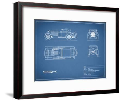 Mercedes SSK-Blue-Mark Rogan-Framed Art Print
