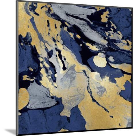 Marbleized in Gold and Blue I-Danielle Carson-Mounted Giclee Print