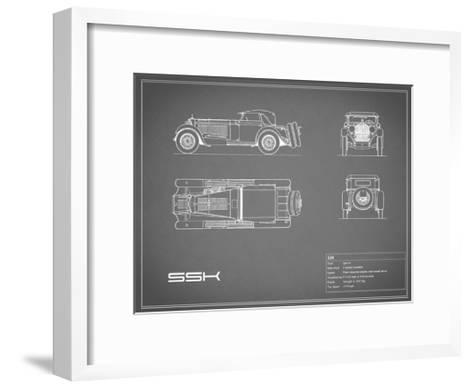 Mercedes SSK-Grey-Mark Rogan-Framed Art Print