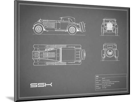 Mercedes SSK-Grey-Mark Rogan-Mounted Giclee Print