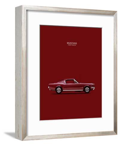 Mustang Fastback 65-Mark Rogan-Framed Art Print