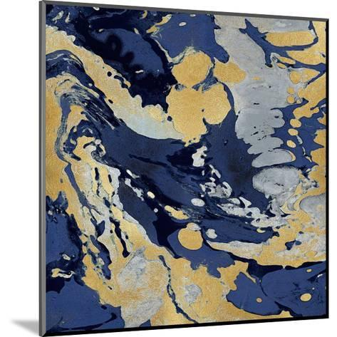 Marbleized in Gold and Blue II-Danielle Carson-Mounted Giclee Print