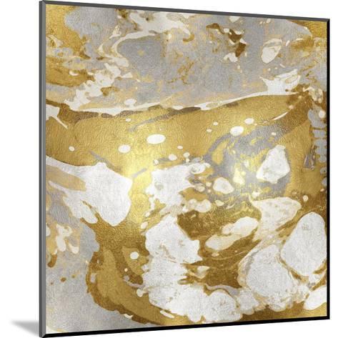 Marbleized in Gold and Silver I-Danielle Carson-Mounted Giclee Print