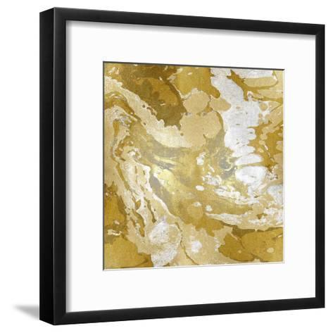 Marbleized in Gold and Silver II-Danielle Carson-Framed Art Print