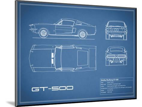 Shelby Mustang GT500-Blue-Mark Rogan-Mounted Giclee Print