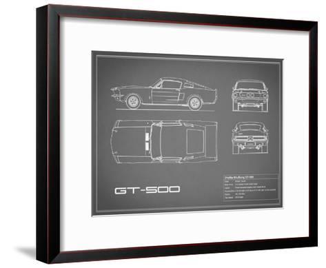 Shelby Mustang GT500-Grey-Mark Rogan-Framed Art Print