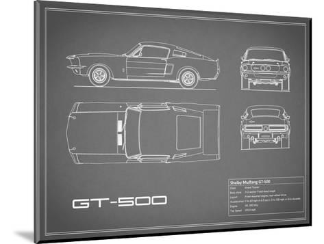 Shelby Mustang GT500-Grey-Mark Rogan-Mounted Giclee Print