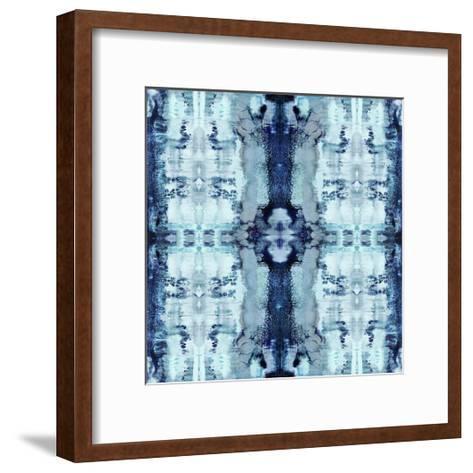 Patterns in Blue-Ellie Roberts-Framed Art Print
